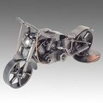 Whimsical Motorcycle Fatboy Nuts and Bolts Metal Sculpture