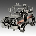 Whimsical SUV Vehicle Nuts and Bolts Metal Sculpture