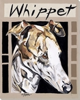 Whippet Dog Wrapped Canvas Giclee Print Wall Art