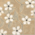 White Blossoms on Suede II Wrapped Canvas Giclee Print Wall Art