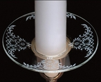 White Lace Bobeche Glass Candle Wax Catchers, Set of 12