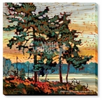 White Pines Wrapped Canvas Giclee Print Wall Art