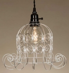 White Romantic Shabby Metal Pendant Lamp Light