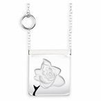 White Rose Garden Crystal Necklace with Silver Cap By Mats Jonasson