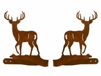 Whitetail Deer Metal Curtain Tie Backs