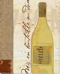 White Wine Bottle Wrapped Canvas Giclee Print Wall Art
