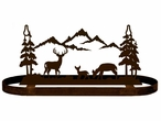 Whitetail Deer Family in the Forest Hanging Metal Pot Rack
