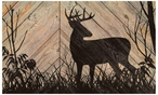 Whitetail Deer Silhouette Wood Sign