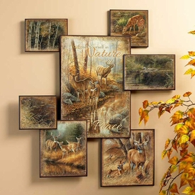 Whitetail Deer Wall Collage Wall Art Wildlife Wall Decor Wild Wings
