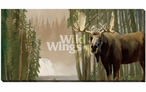 Who's Watching Who Moose Wrapped Canvas Giclee Print Wall Art