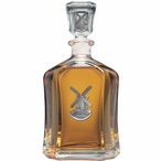 Windmill Capitol Glass Decanter with Pewter Accents