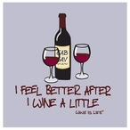 Wine a Little Absorbent Beverage Coasters by Wine is Life, Set of 12