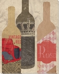Wine Bottles 1 Wrapped Canvas Giclee Print Wall Art