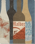 Wine Bottles 2 Wrapped Canvas Giclee Print Wall Art