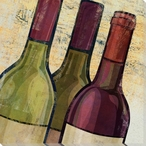 Wine Bottles Wrapped Canvas Giclee Print Wall Art