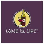 Wine is Life Absorbent Beverage Coasters by Wine is Life, Set of 12