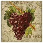 Wine Red Grapes Vintage Style Metal Sign