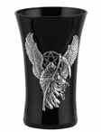 Winged Grim Reaper with Pentagram Shot Glasses, Set of 2