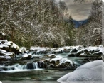 Winter at Greenbrier III Wrapped Canvas Giclee Print Wall Art