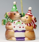 Winter Bears Christmas Tree Ornaments, Set of 4