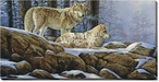 Winter Silence Wolves Wrapped Canvas Giclee Print Wall Art