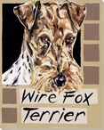 Wire Fox Terrier Dog Wrapped Canvas Giclee Print Wall Art