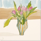 Wish For Spring Flowers Wrapped Canvas Giclee Print Wall Art
