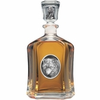 Wolf Oval Capitol Glass Decanter with Pewter Accents