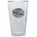 Wolf Pint Beer Glasses with Pewter Accent, Set of 2