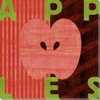 Wood Block Apple Wrapped Canvas Giclee Print Wall Art