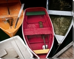 Wooden Rowboats XI Wrapped Canvas Giclee Print Wall Art