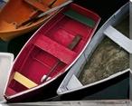 Wooden Rowboats XII Wrapped Canvas Giclee Print Wall Art