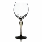 Woods Clear Green and Black Crystal Red Wine Glass by Mats Jonasson