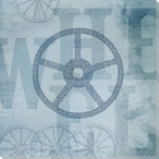 "Word Play ""Wheel"" Wrapped Canvas Giclee Print Wall Art"