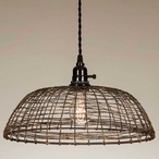 Woven Wire Metal Pendant Lamp Light