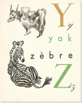 Y. Z. Yak Zebre Wrapped Canvas Giclee Print Wall Art