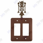 Yei Double Rocker Metal Switch Plate Cover