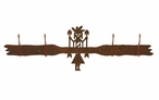 Yei Four Hook Metal Wall Coat Rack