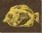 Yellow Fish Wrapped Canvas Giclee Print Wall Art