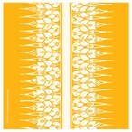 Yellow Floral Stripe Absorbent Coasters by Heidi Dobrott, Set of 8