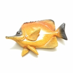 Yellow Hanging Tropical Fish Statues, Set of 4