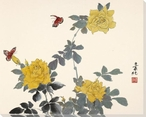 Yellow Roses Wrapped Canvas Giclee Print Wall Art