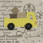 Yellow Truck Wrapped Canvas Giclee Print Wall Art