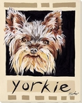 Yorkie Dog Wrapped Canvas Giclee Print Wall Art