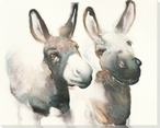You Talking to Me Donkeys Wrapped Canvas Giclee Print Wall Art