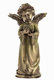 Young Angel Holding Pigeon Sculpture