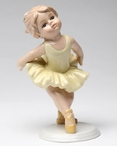 Young Ballerina with Her Hands Back Porcelain Sculpture