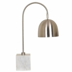 Z-bar Marble and Metal Task Table Lamp with Metal Shade