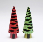 Zebra Christmas Trees Salt and Pepper Shakers by Babs, Set of 4