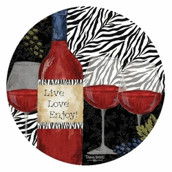 Zebra wine absorbent round beverage coasters by tara reed set of 8 drink coasters thirstystone - Drink coasters absorbent ...
